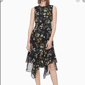 NWT Calvin Klein Floral Sleeveless High Low Dress